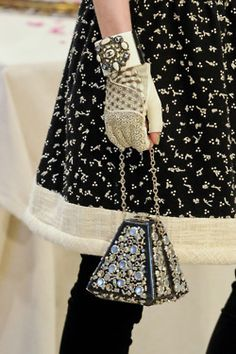 Chanel fingerless glove