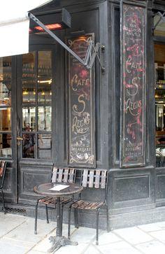 Cafe St Regis, on Ile Saint-Louis, Paris. More photos on the blog.