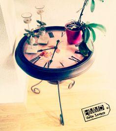 Mesa reloj vintage, regalo mesa original, romántico by Handmademaniadecor HMMD flossy original table clock romantic gift metal