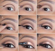 """This is beautiful. I love how subtle it is. I would do less liner; none on the lower lash line, and a subtler """"wing"""" on top."""
