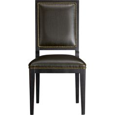 Sonata Leather Side Chair in 15% off Dining Chairs | Crate and Barrel $349 on sale for $296.65