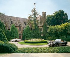 Designer Ralph Lauren opens up the doors of the the Norman-style stone manor house that he shares with his wife, Ricky, in Bedford, New York Ralph Lauren House, Bedford New York, Bedford House, New York Homes, English Manor, English Estates, English Homes, English Countryside, Enchanted Home