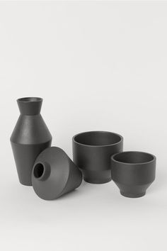 Høy vase i stengods - Sort - Home All Schwarz Home, Vacuum Coffee Maker, Porcelain Black, Kitchenware, Tableware, Home Decor Quotes, Black House, Malaga, Flower Vases