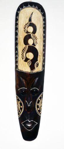 "African Mask Decor African Mask Tiki Mask Tribal Bali Wall Decor Art Mask 8"" 6706"