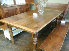 Harvest Tables Threshing Floor And Reclaimed Barn Wood On