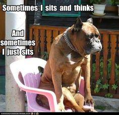 Sometimes I just sits. . .