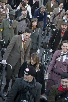 Dressing up for the Tweed Run.