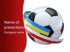 Standard stadium leather PowerPoint Template