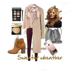 """""""Sweater weather"""" by dicarios on Polyvore featuring moda, Bobbi Brown Cosmetics, MANGO, mel, Steve Madden, Lancaster, H&M ve Casetify"""