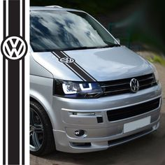 Transporter Side Sticker Design This item is a VW Stripe Sticker. These graphics look great on a wide range of VW vehicles. These stickers can be easily applied using our application instructions. Vw California Camper, T6 California, Vw T4 Tuning, Vw T5 Caravelle, Vw Transporter Camper, Van Design, Volkswagen Bus, Top Cars, Camper Van