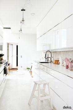 A white kitchen in Turku, Finland.