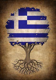 Tree of Life Greek Flag Greek Flag, Graffiti Artwork, Flag Art, Greek Quotes, Greek Islands, Eastern Europe, Tree Of Life, History, Country