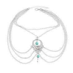 Turquoise Stone Vintage Anklets