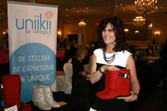 President Donna Smith with Uniikii Boots