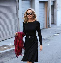 Black Midi Dress | Memorandum