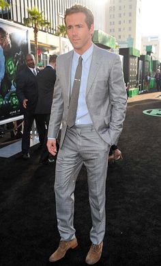 I'm lovvving this plaid, light grey suit! And suprisingly, i like the shoes too!