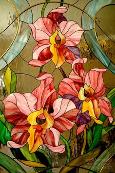 glass panels Just Yesterday Stained Glass Quilt, Tiffany Stained Glass, Stained Glass Flowers, Faux Stained Glass, Stained Glass Lamps, Stained Glass Designs, Stained Glass Panels, Stained Glass Projects, Stained Glass Patterns