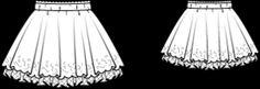 FREE PATTERN girl circular skirt with double layers and elasticated waist :: falda de vuelo con dos capas y elástico talla niña PATRÓN GRATIS