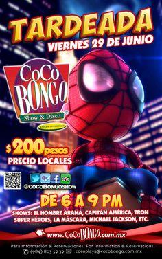 ¡Este 29 de junio es el día #PlayaDelCarmen! ¡Tardeada #CocoBongo!