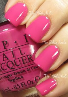 What a fun summer color. he PolishAholic: OPI Spring 2012 Holland Collection Swatches - Kiss Me On My Tulips Cute Nails, Pretty Nails, Colorful Nail Designs, Opi Nails, Polish Nails, Creative Nails, Nail Polish Colors, Pink Polish, Manicure And Pedicure