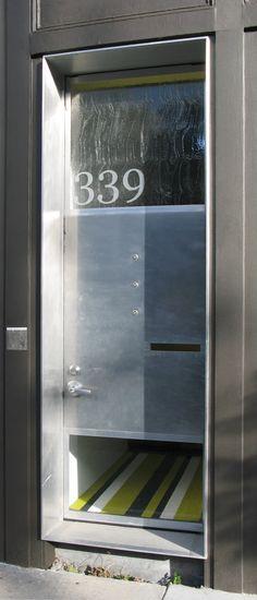 Nice door detail by SF architect David Baker. Fiber Cement Board, David Baker, Numerology Numbers, Door Detail, House Numbers, Architect Design, Front Doors, Door Design, Architecture