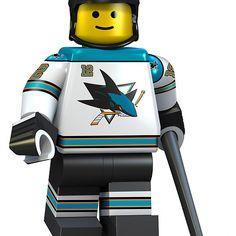 San Jose Sharks lego player No 12 Lego Hockey, Nhl Hockey Jerseys, Hockey Players, Ice Hockey, San Jose Sharks, Shark Lego, Patrick Marleau, Lego Sports, Cool Sharks
