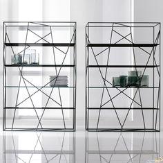 Libreria Zenit Struttura Alluminio Brown In
