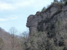 Stone Face Rock, Pennington Gap, VA - I know where this is!  :+)