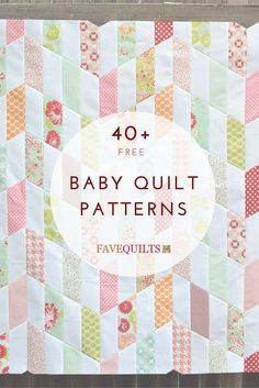Free baby quilt patterns - good to have on hand