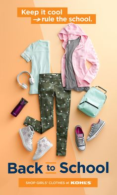 Find back-to-school clothes for girls at Kohl's. Check all of her must-haves off your Back-to-School Favorites Checklist! SO camo jeggings take her from summer to the school year in style. Mix + match them with cute tees, fun sneakers and the coolest backpacks. Find Levi's®, Converse, adidas and more in Kohl's stores and at Kohls.com. #backtoschool #girls