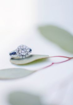 Moissanite Fire and Blue Sapphire ring!