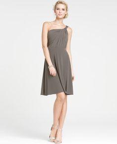 $150 - Jersey One Shoulder Bridesmaid Dress (Ground Pepper)