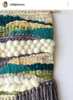 Custom piece I finished for Susan! The colors she wanted turned out beautifully all together! Made with an assortment of pretty yarns but… Weaving Loom Diy, Weaving Art, Tapestry Weaving, Hand Weaving, Yarn Crafts, Diy Crafts, Weaving Wall Hanging, Wall Hangings, Yarn Wall Art