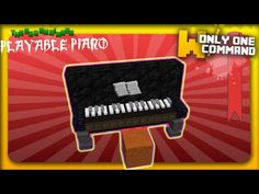 Minecraft - Playable Piano with only two command blocks - YouTube