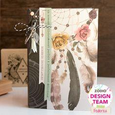 Una giornata raccontata in un mini | mini album by kushi per Zodio    #scrapbooking #minialbum #minibook #florilegesdesign #zodioitalia #zodio #kushiscrap