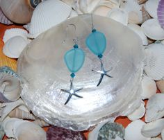 Sterling Silver Starfish Dangle Earrings with by KarmaKittyJewelry, $20.00