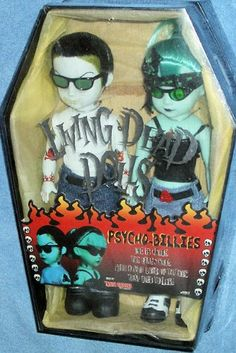 Amazon.com: Living Dead Dolls Psycho Billies 2-Pack Exclusive Goth Dolls: Toys & Games