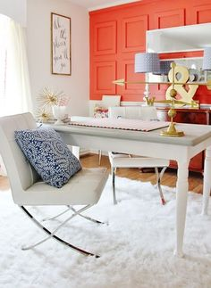 Color Me Happy (Pops of Coral Colored Cheer)