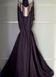 Kup mój przedmiot na #vintedpl http://www.vinted.pl/damska-odziez/dlugie-sukienki/14328318-zarasukienka-granatowa-maxi-dluga-boho-xs