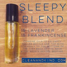 Roller Ball Remedies - with Family Physician Kit oils - Sleep #lavender #frankincense #doterra