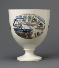 """Boat Race Day"" footed bowl by Eric Ravilious for Wedgwood, 1938"