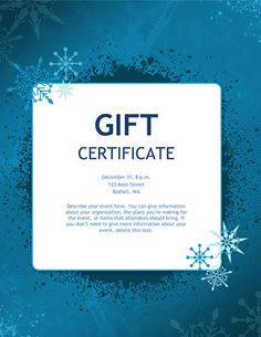 gift certificates gift certificate template microsoft templates