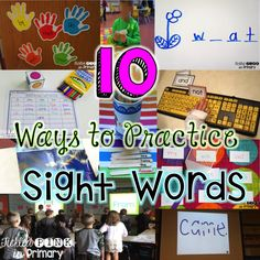 10 fun ways to help students practice sight words