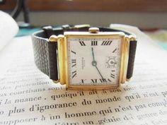 Analog Hand Winding HERMES エルメスのアンティーク腕時計手巻トカゲの本革 Watch Antique ¥11200yen 〆10月06日