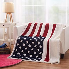 tapestry throw blanket UK flag patriotic style Great Britain reversible woven