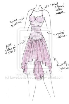 PLEASE NOTE: I do not allow any use of my designs. Just a party dress :] MISCcd - Dancing Sugarplum Dress Drawing, Drawing Clothes, Dress Sketches, Anime Costumes, Fantasy Dress, Fashion Design Sketches, Anime Outfits, Character Outfits, Costume Design