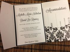 Damask Print Wedding Invitation Suite  by DesignsByAlisaMarie, $50.00