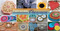 25 Delicados Posavasos Tejidos a Crochet con Patrones Crochet Mandala, Crochet Granny, Knit Crochet, Doilies, Snowflakes, Crochet Earrings, Coin Purse, Cross Stitch, Knitting