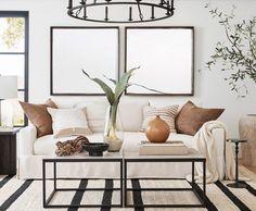 A Sandy Centerpiece Furniture Decor, Living Room Furniture, Living Room Decor, Classic Living Room, Modern Living, Round Vase, Living Room Shop, Fabric Sofa, Recycled Glass