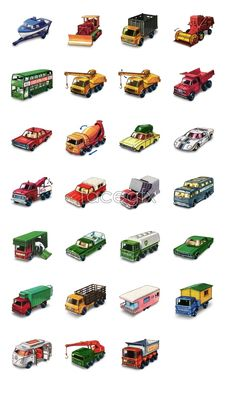Matchbox cars icons...for Anthony and Thomas!!